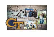 Georgia Tech Yellow Jackets I Love My Family Clip Frame
