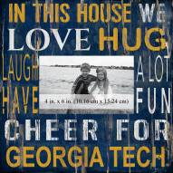 """Georgia Tech Yellow Jackets In This House 10"""" x 10"""" Picture Frame"""