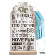 Georgia Tech Yellow Jackets In This House Mask Holder