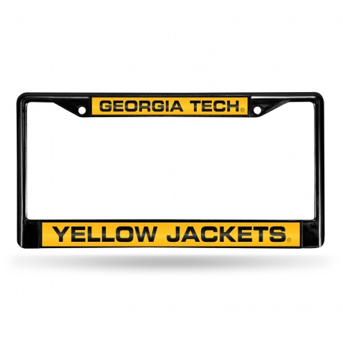Georgia Tech Yellow Jackets Laser Black License Plate Frame