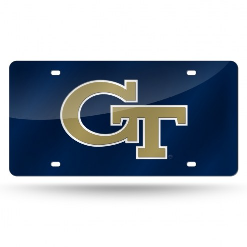 Georgia Tech Yellow Jackets Laser Cut License Plate