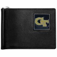 Georgia Tech Yellow Jackets Leather Bill Clip Wallet