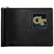 Georgia Tech Yellow Jackets Leather Bill Clip Wallet