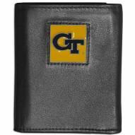 Georgia Tech Yellow Jackets Leather Tri-fold Wallet