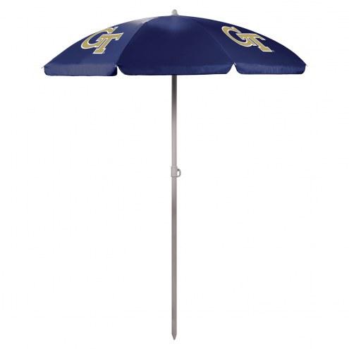 Georgia Tech Yellow Jackets Navy Beach Umbrella