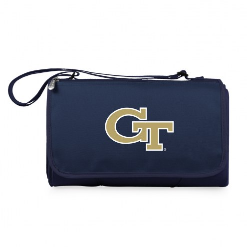 Georgia Tech Yellow Jackets Navy Blanket Tote