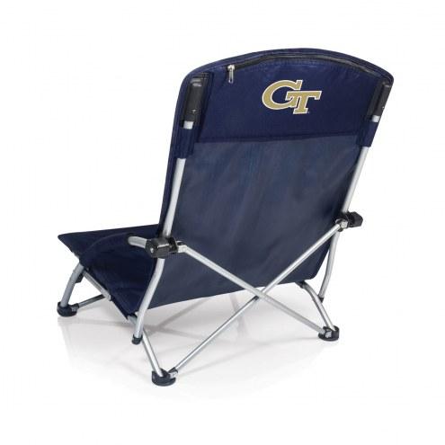 Georgia Tech Yellow Jackets Navy/Slate Tranquility Beach Chair