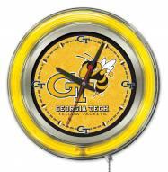 Georgia Tech Yellow Jackets Neon Clock