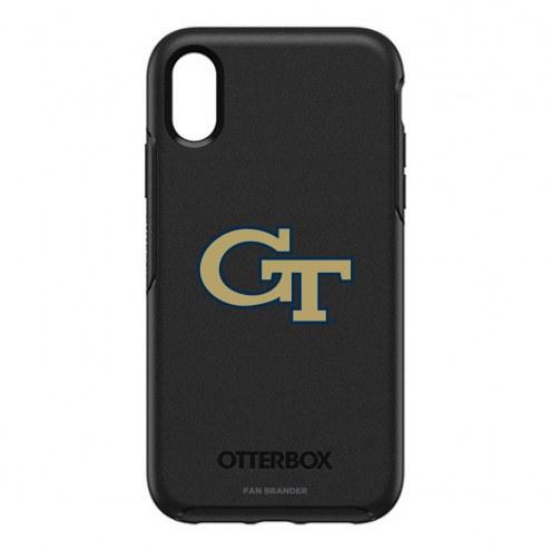 Georgia Tech Yellow Jackets OtterBox iPhone XR Symmetry Black Case