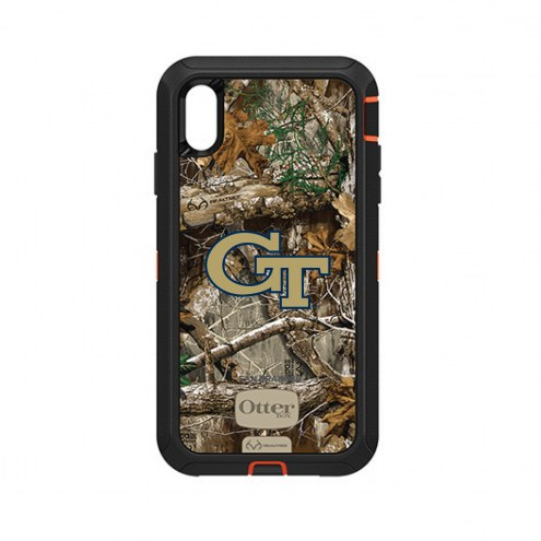Georgia Tech Yellow Jackets OtterBox iPhone XS Max Defender Realtree Camo Case