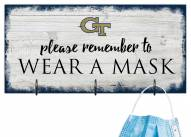 Georgia Tech Yellow Jackets Please Wear Your Mask Sign