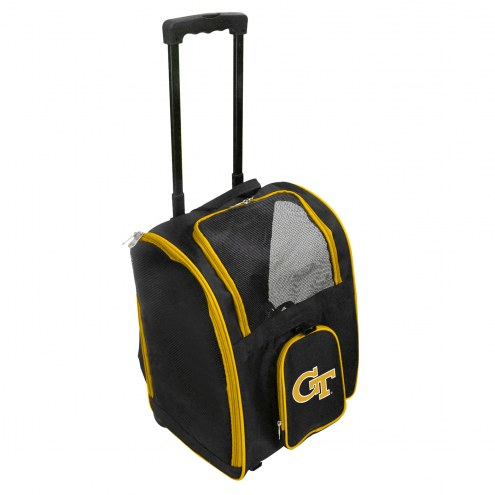 Georgia Tech Yellow Jackets Premium Pet Carrier with Wheels