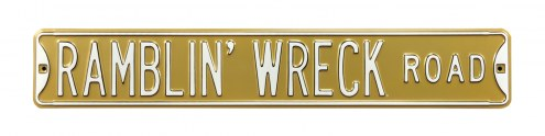 Georgia Tech Yellow Jackets Ramblin' Wreck Street Sign