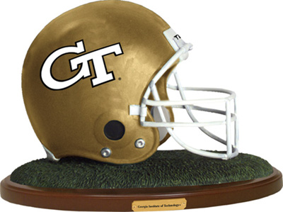 Georgia Tech Yellow Jackets Collectible Football Helmet Figurine