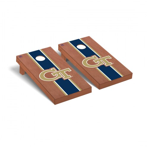 Georgia Tech Yellow Jackets Rosewood Stained Cornhole Game Set