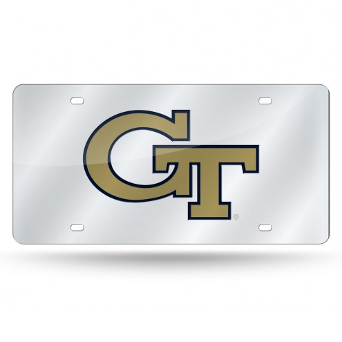 Georgia Tech Yellow Jackets Silver Laser License Plate