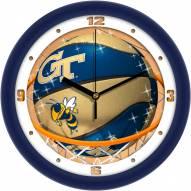 Georgia Tech Yellow Jackets Slam Dunk Wall Clock