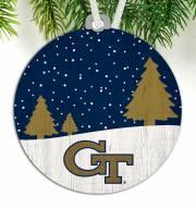 Georgia Tech Yellow Jackets Snow Scene Ornament