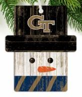 Georgia Tech Yellow Jackets Snowman Ornament