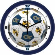 Georgia Tech Yellow Jackets Soccer Wall Clock