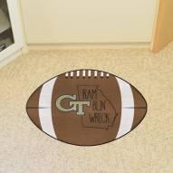 Georgia Tech Yellow Jackets Southern Style Football Floor Mat