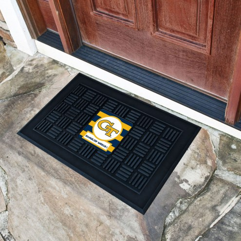 Georgia Tech Yellow Jackets Southern Style Vinyl Door Mat