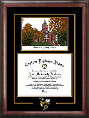 Georgia Tech Yellow Jackets Spirit Diploma Frame with Campus Image