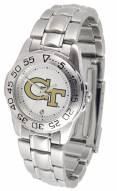 Georgia Tech Yellow Jackets Sport Steel Women's Watch