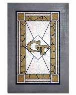 Georgia Tech Yellow Jackets Stained Glass with Frame