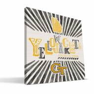 Georgia Tech Yellow Jackets State Canvas Print