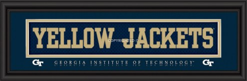 "Georgia Tech ""Yellow Jackets"" Stitched Jersey Framed Print"