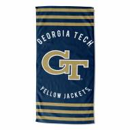 Georgia Tech Yellow Jackets Stripes Beach Towel