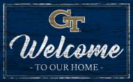 Georgia Tech Yellow Jackets Team Color Welcome Sign