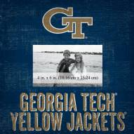 "Georgia Tech Yellow Jackets Team Name 10"" x 10"" Picture Frame"