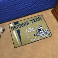 Georgia Tech Yellow Jackets Uniform Inspired Starter Rug