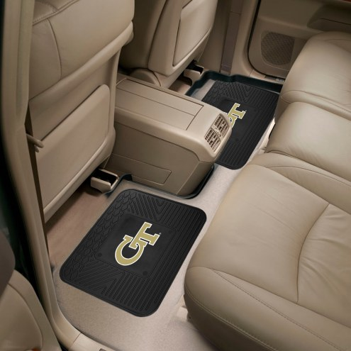Georgia Tech Yellow Jackets Vinyl 2-Piece Rear Floor Mats