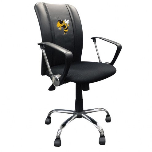 Georgia Tech Yellow Jackets XZipit Curve Desk Chair with Buzz Logo