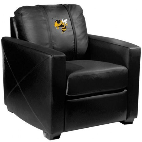 Georgia Tech Yellow Jackets XZipit Silver Club Chair with Buzz Logo