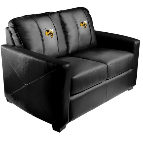 Georgia Tech Yellow Jackets XZipit Silver Loveseat with Buzz Logo