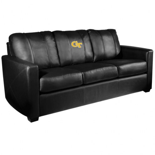 Georgia Tech Yellow Jackets XZipit Silver Sofa with GT Logo