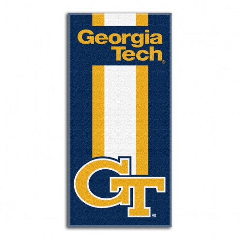 Georgia Tech Yellow Jackets Zone Read Beach Towel