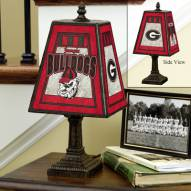 Georgia Bulldogs NCAA Hand-Painted Art Glass Table Lamp