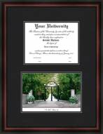 University of Georgia Diplomate Framed Lithograph with Diploma Opening