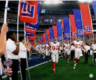 Giants Coming out of Tunnel for SB XLII 20x24 Photo