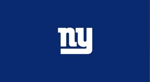 New York Giants NFL Team Logo Billiard Cloth