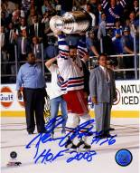 Glenn Anderson Holding Stanley Cup 8 x 10 Photograph w/ HOF 2008