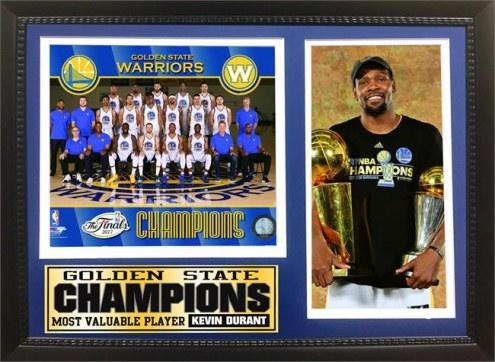 "Golden State Warriors 12"" x 18"" 2017 NBA Champions Photo Stat Frame"
