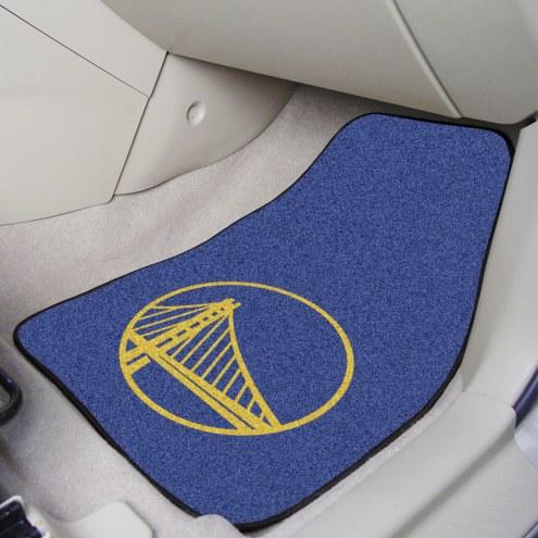 Golden State Warriors 2-Piece Carpet Car Mats