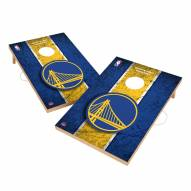 Golden State Warriors 2' x 3' Vintage Wood Cornhole Game