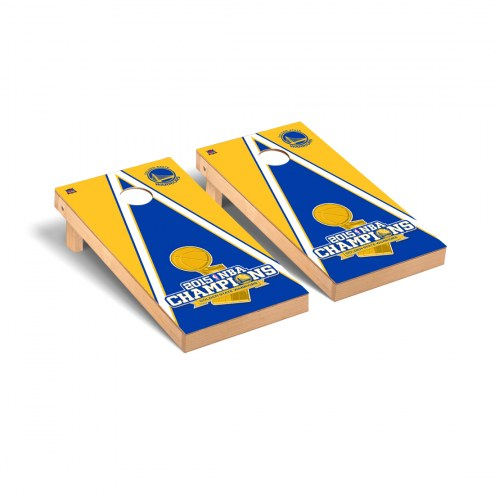 Golden State Warriors 2015 NBA Champions Triangle Cornhole Game Set